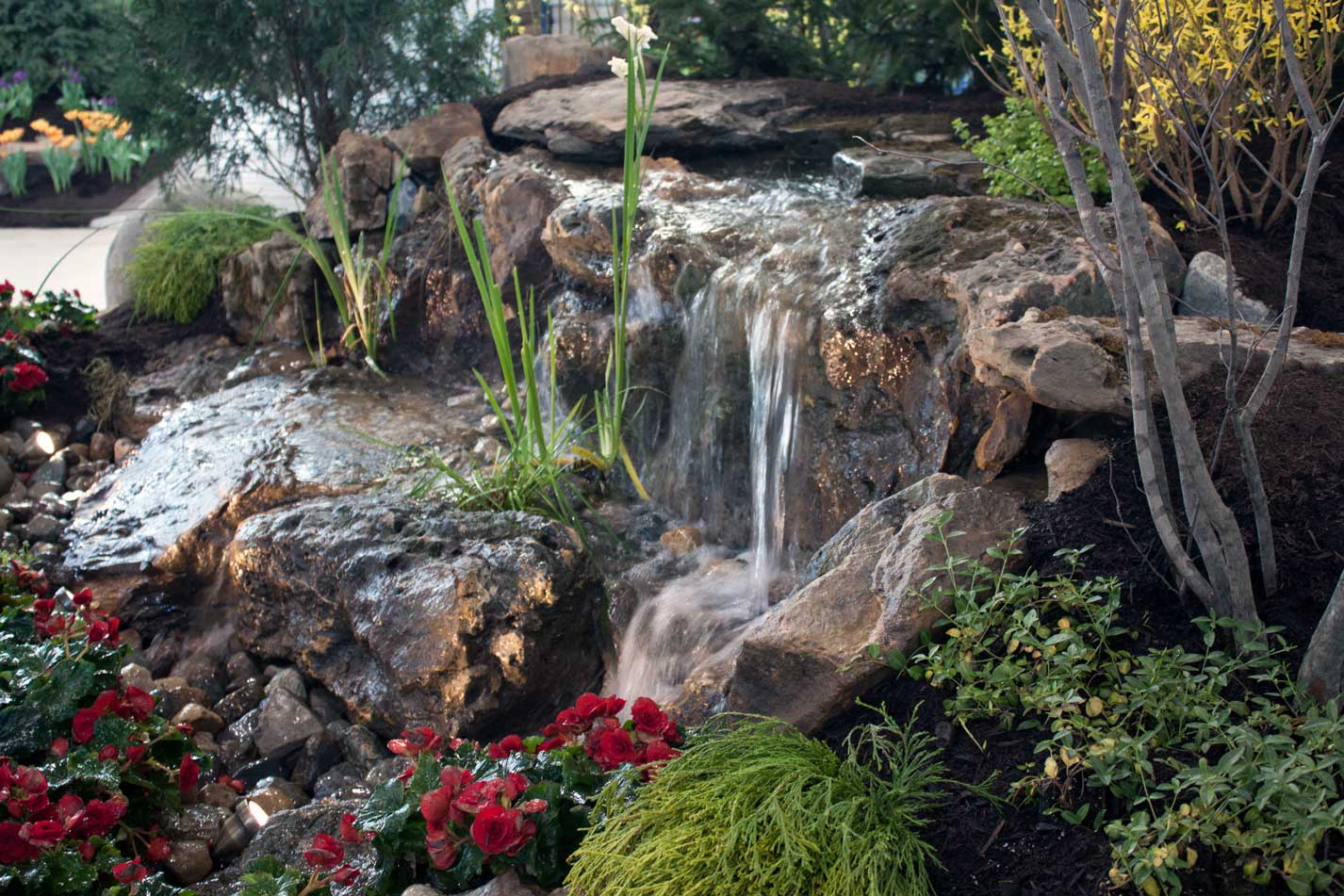 Waterfall with Indian Creek Stone