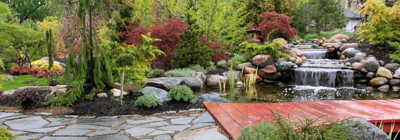 Garden Space & Water Feature with Various Stone Products