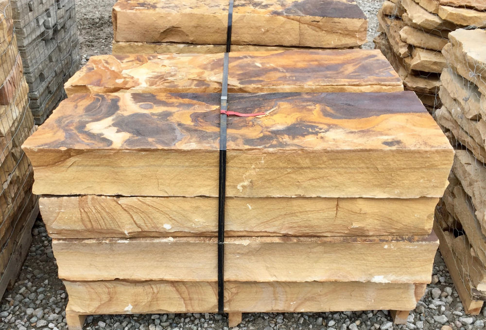 Cumberland Mt Brown Snapped Steps | Green Stone Company | Noblesville, Indiana