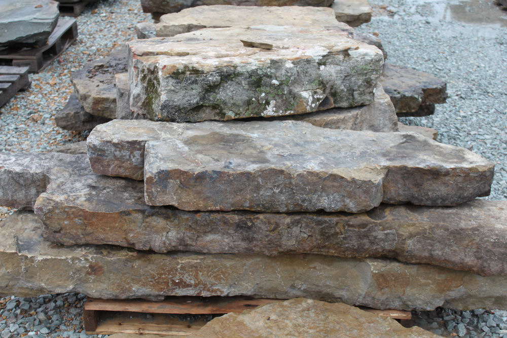 Ozark Weathered Fieldstone Natural Steps | Green Stone Company | Noblesville, Indiana