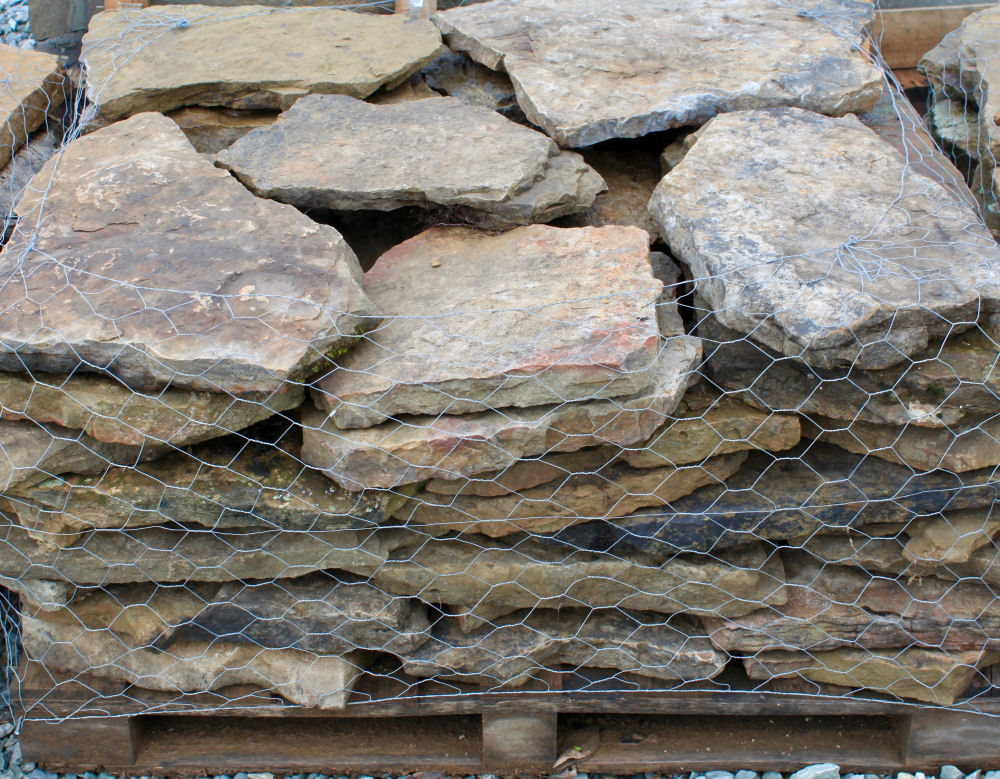 Ozark Weathered Fieldstone Steppers | Green Stone Company | Noblesville, Indiana