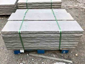 indiana-limestone-rock-faced-14-inch-wall-cap-greenstone-natural-stone-supplier-landscape-supply